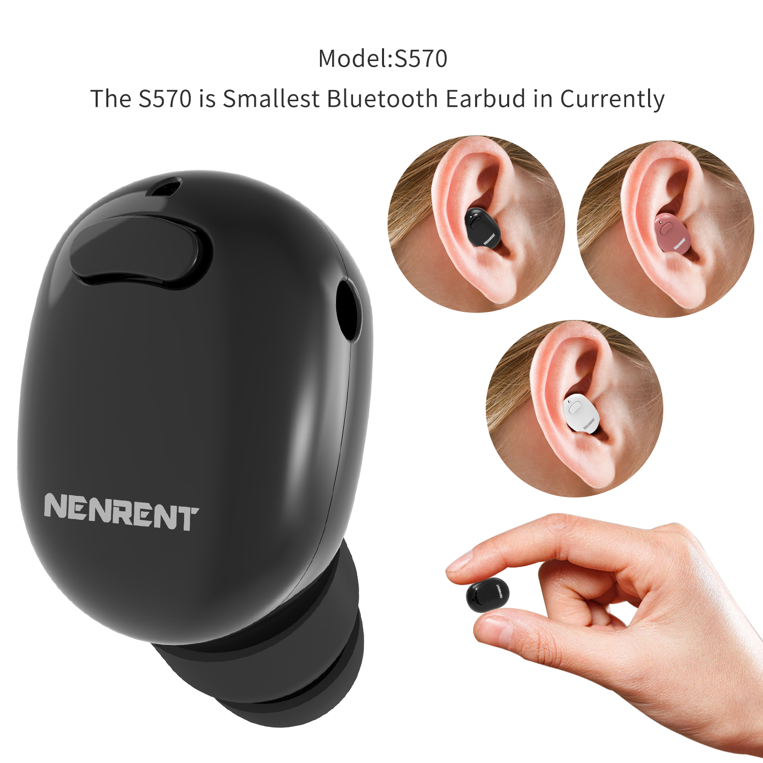 NENRENT USB Charging Cable for S570 Bluetooth Earbud Earpiece